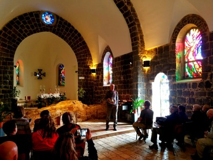 This small chapel was built over the rock where Jesus served breakfast to the disciplines In John 21