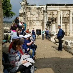 These c 200 AD ruins were built atop the actual synagogue where Jesus taught