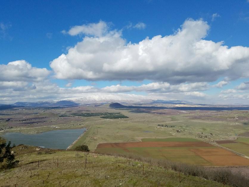 Mt Hermon from Mt Bental