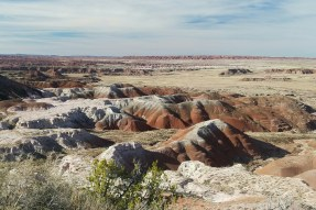 In addition to the common red rock, there are many various shades, including lavender