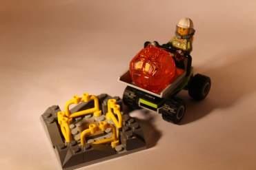 Lego City Volcano boulder rack and dumper