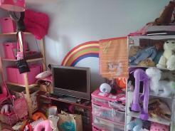 bedroom upgrade mess
