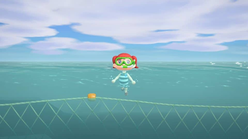 Let's go diving – Animal Crossing