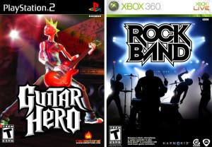 But which was best? YOU DECIDE. Actually, I'll decide: Rock Band was well better than the first Guitar Hero