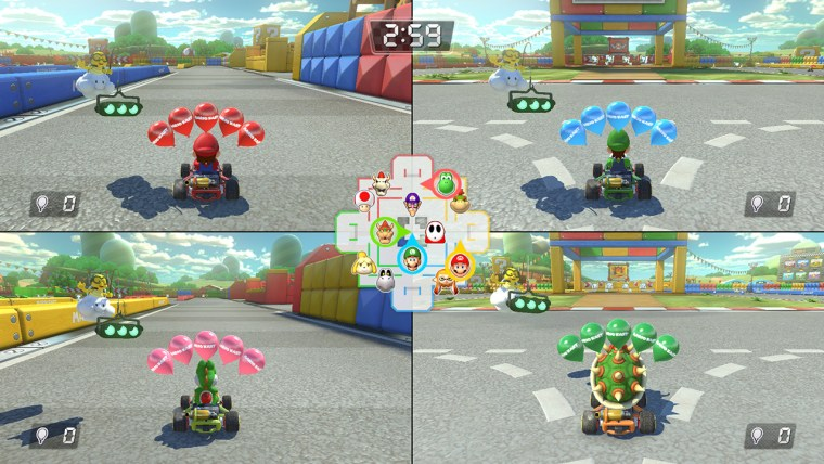 Though you can play online, there's still the trusty old four-player split-screen option.