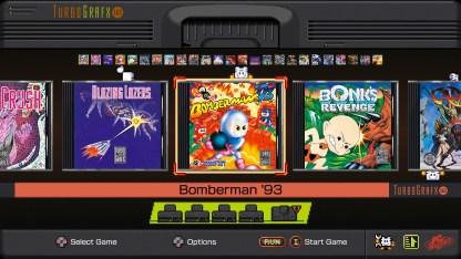 TG-16 games menu