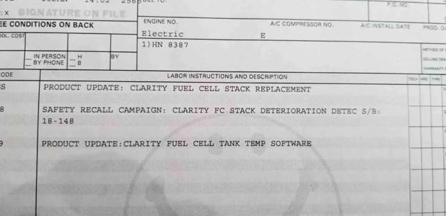 FCV degradation recall