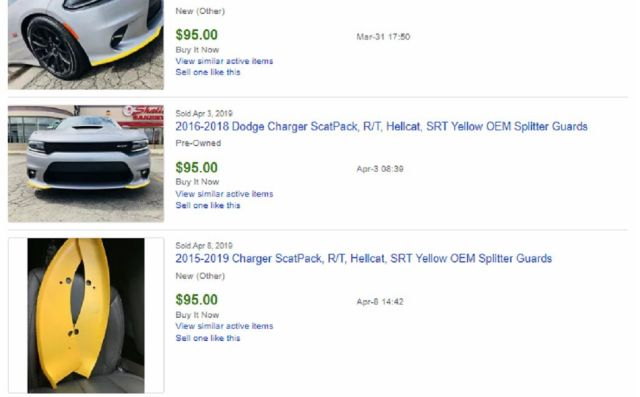 yellow splitter guards eBay