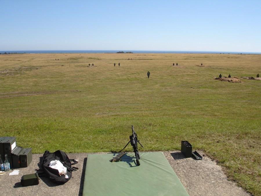Estación de tiro con ametralladora. AMM FN Minimi 7.62mm dotada de visor Aimpoint Micro T-1 y 3XMag