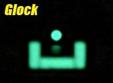 Elementos de puntería de una pistola Glock con Nitesiters