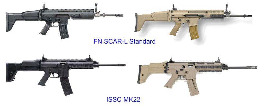 3. Comparativa entre el FN SCAR y el ISSC MK22.