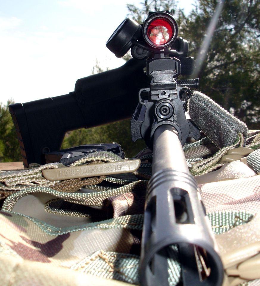 6. Vista frontal del fusil ISSF MK22. ©Jorge Tierno Rey.