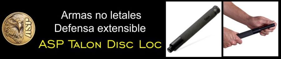 Armas no letales: Defensa extensible ASP Talon Disc Loc.