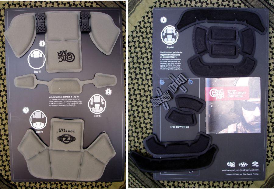 Presentación del sistema de almohadillado/acolchado Team Wendy EPIC Air en su embalaje.