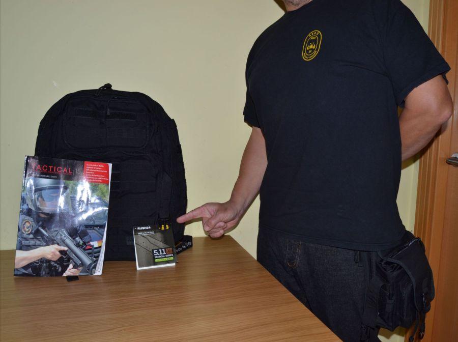 Manel, ganador del sorteo de una mochila 5.11 Rush 24.