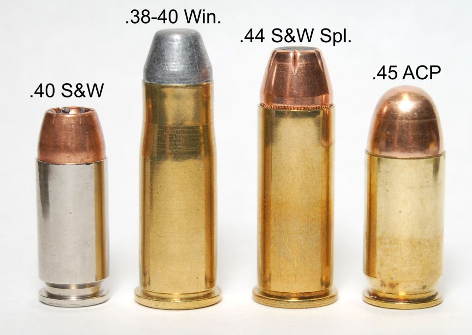 .40 S&W, .38-40 Win., .44 S&W Spl., .45 ACP