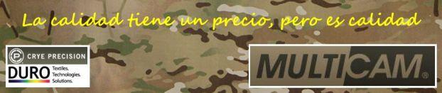 MultiCam = Crye Precision + DURO Industries. La calidad tiene un precio, pero es calidad.