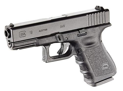 Pistola semiautomática Glock G19.