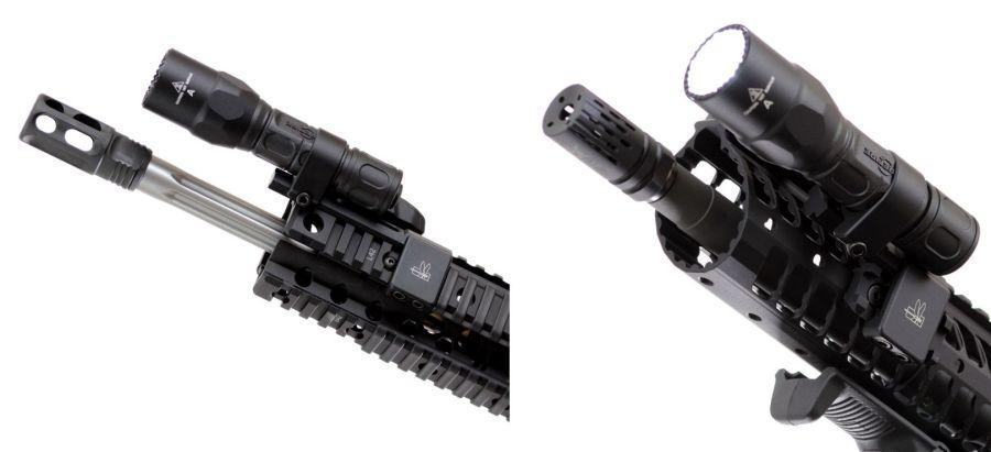 SureFire G2X montada sobre un fusil AR15