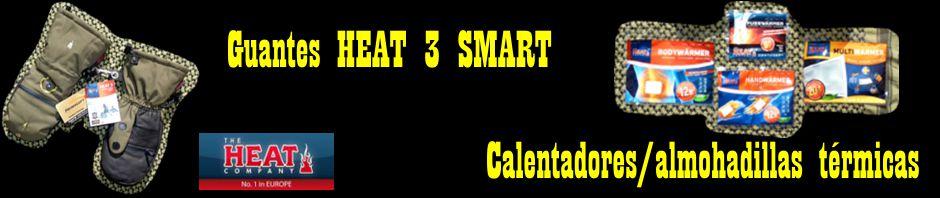 Guantes HEAT 3 SMART y calentadores/almohadillas térmicas. The HEAT Company.