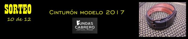 SORTEO. Cinturón Fundas Cabrero modelo 2017, para uso diario (10 de 12).