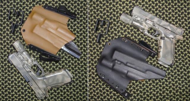 PT Holsters, fundas pistoleras de fabricación artesanal en Kydex 100 % española, y el porte oculto de un arma [Concealed Carry Weapon (CCW)]: G17 con linterna X300 Ultra con DG Switch montada en el arma.