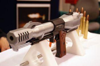 "Triple Action ""Thunder"", una pistola calibre .50 BMG (12'70x99 mm.)."