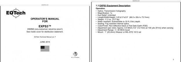 Manual de Usuario del modelo EXPS3 con fecha de junio de 2015.