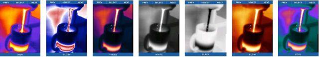 Filtros de colores cámara térmica Seek Thermal RevealXR FastFrame