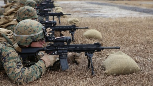 Integrated Task Force Marines drive home M27 IAR 101