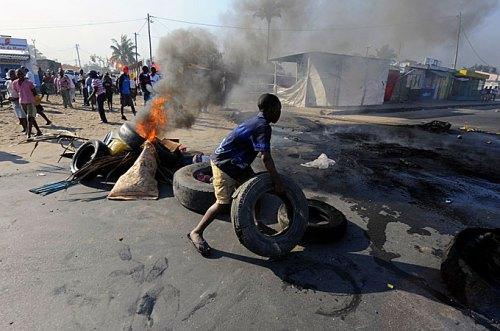 Disturbios en Mozambique