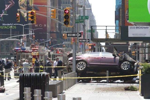 Consecuencias del ataque con vehículo del 18 de mayo de 2017 en la ciudad de Nueva York.