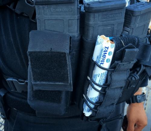 Tampón para heridas de bala