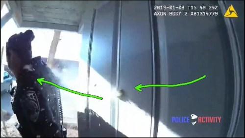 Policía recibe disparo en el hombro