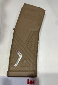 Cargador HK de polímero del fusil HK 433 expuesto en la feria Enforce Tac 19 1