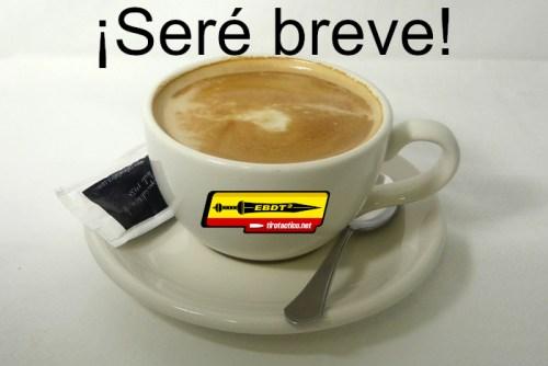 Imagen: Seré breve, mientras te tomas un café con leche