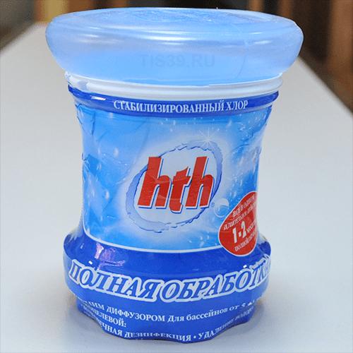 Комплексное средство HTH 3 in 1 для бассейна 5-30 м3