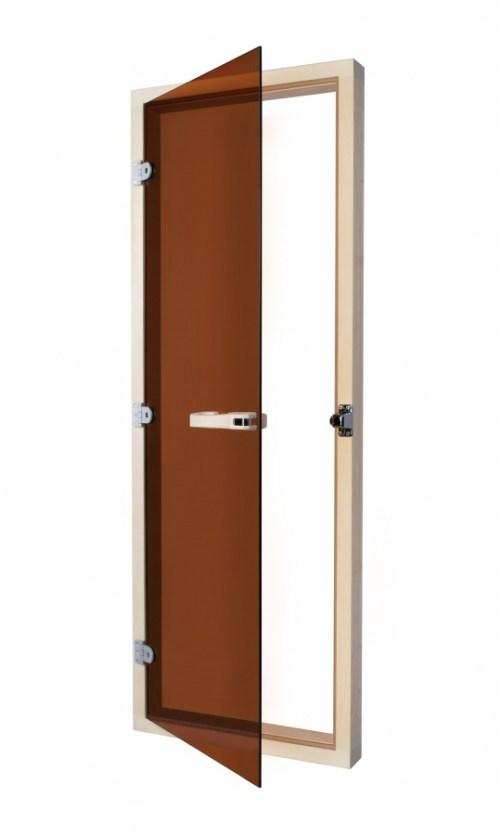 Дверь для бани парилки SAWO 730-4SGA 7/19, цвет стекла бронза,с порогом,универсальная