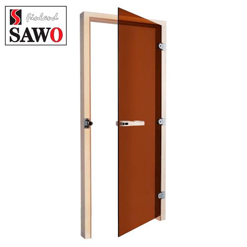 Дверь для парилки SAWO 730-3SGA-R 7/19 ,цвет стекла бронза,правая,без порога