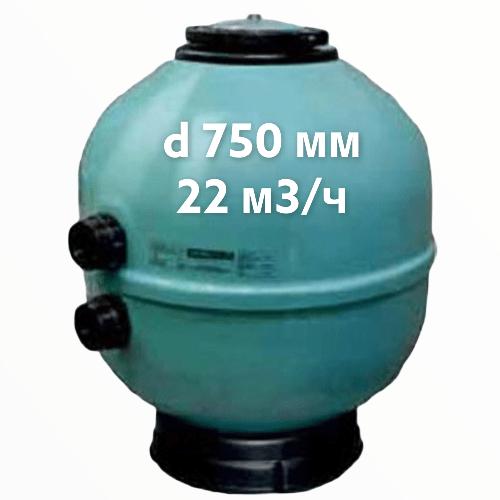 """Фильтр для бассейна""""Aqua"""", d 750 мм,22 м3/ч, давление 2.5 бар"""