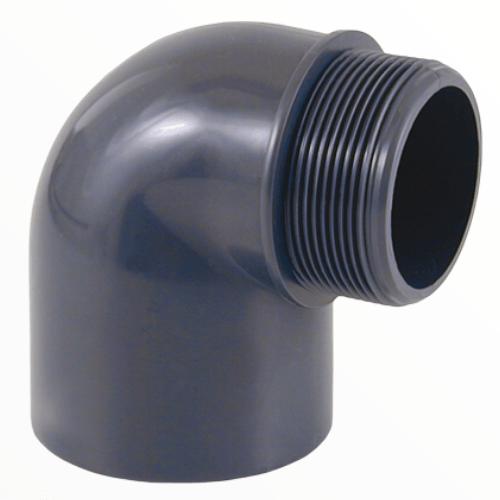 Угол клеевой ПВХ 90º градусов с внешней резьбой