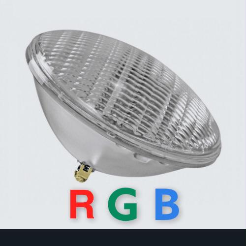 Светильник лампа фара для бассейна галогеновая диодная разноцветная с пультом купить Калиниград