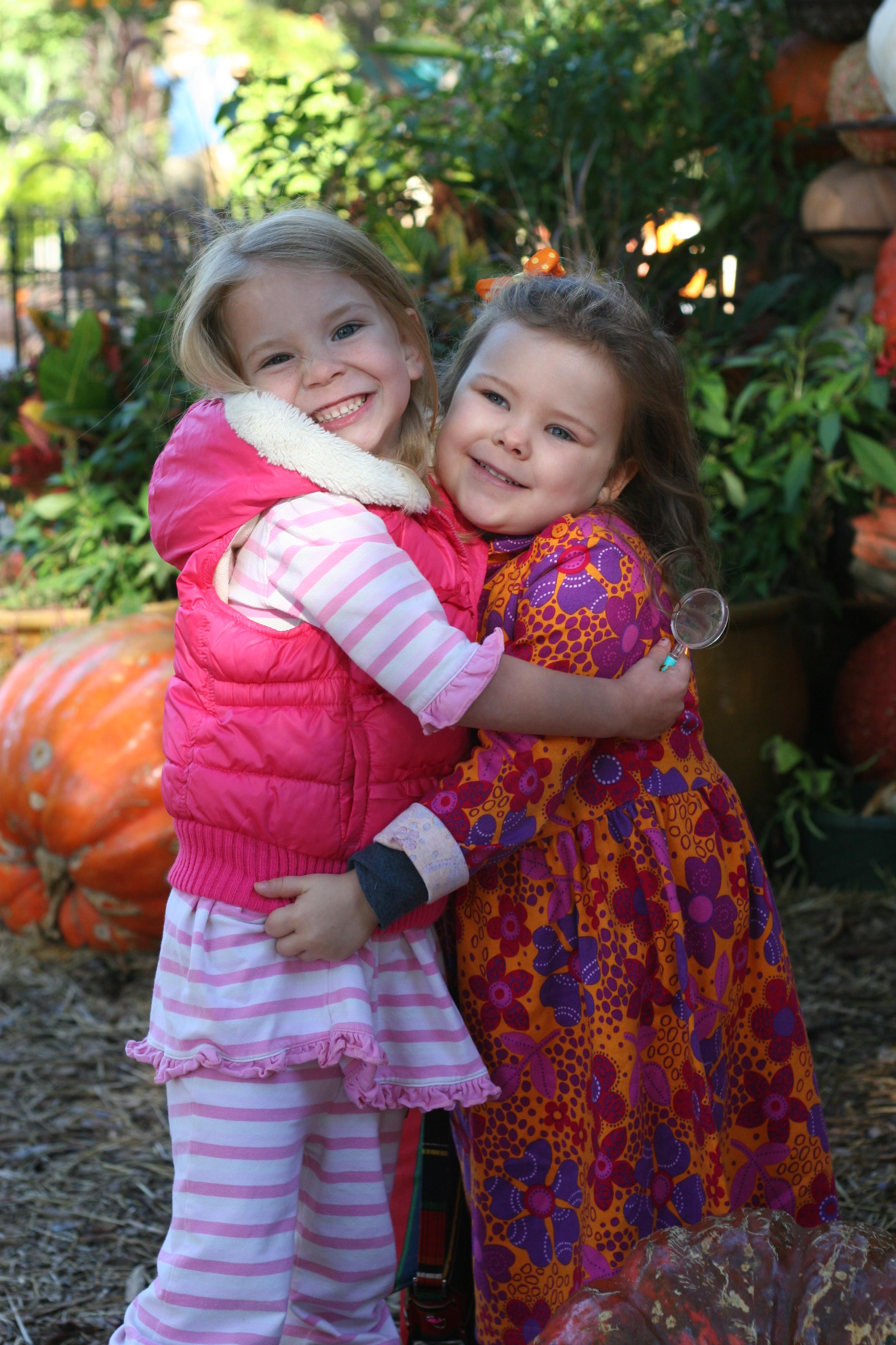 Fall Julia And Amelia At The Arboretum