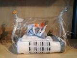 """Geschenkpackung """"Maus auf Handtuch Pixel mit Waschhandschuh"""""""