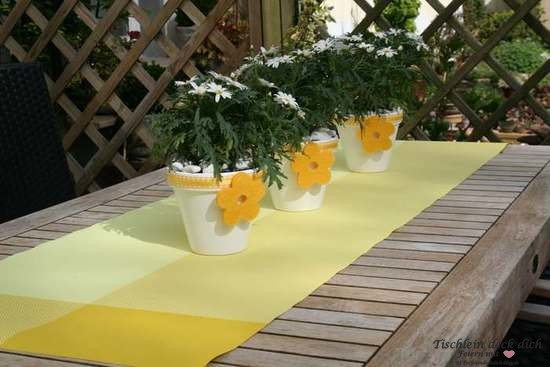 """Tischläufer """"Zarah"""" in gelb von Contento"""