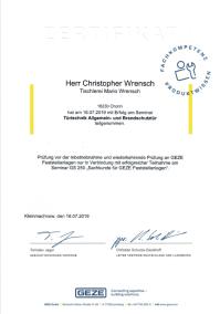 Türtechnik Allgemein- und Brandschutztür - Christopher Wrensch