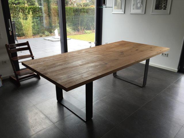 Esstisch Rund Holz Massiv | Tisch Rund Beton-optik ...