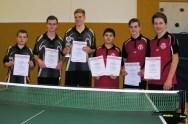 männliche Jugend - links Sieger TG Naurod - rechts 2. Platz Spvgg. Hochheim