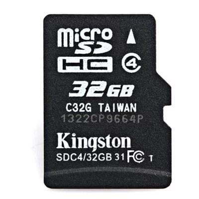 Portable Kingston 32GB Micro SD/TF Small Class4 Memory Card 1