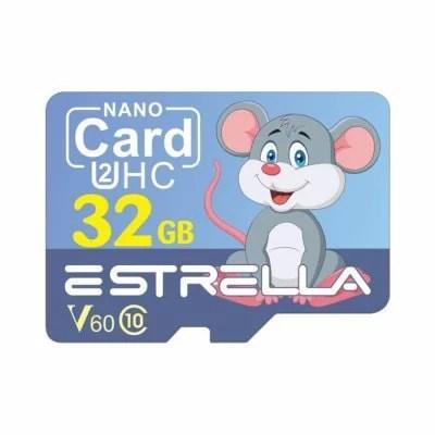 ESTRELLA Cute Cartoon Animal Pattern High Speed Micro SD Card U2HC SDHC V60 Class 10 Memory TF Card 1